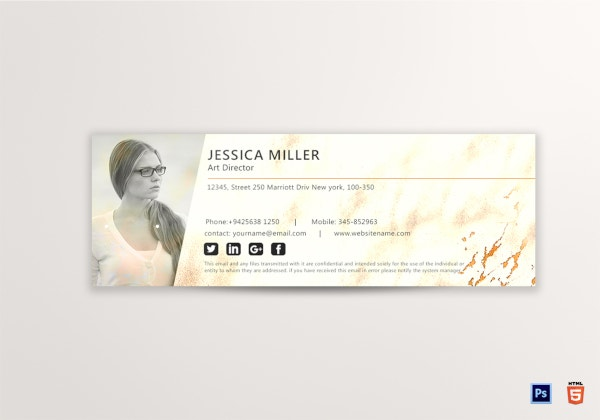 art director email signature template