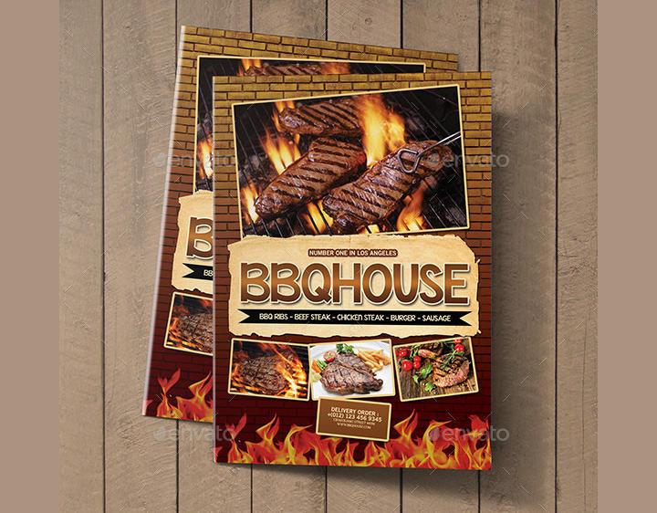 BBQ Steak Bifold Menu