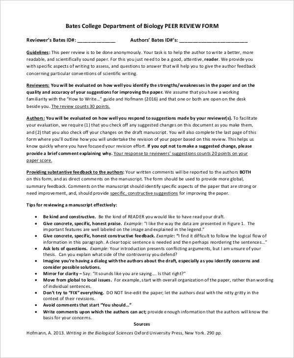 Peer Improvement Forms  Templates  Pdf Doc  Free  Premium