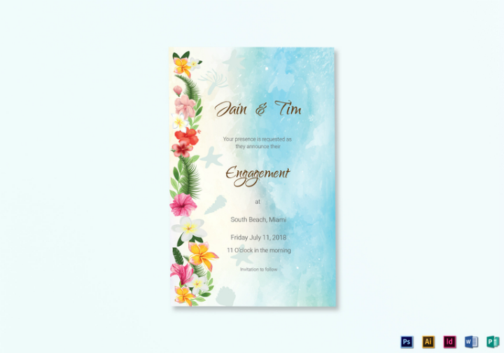 beach-engagement-announcement-card-psd-template