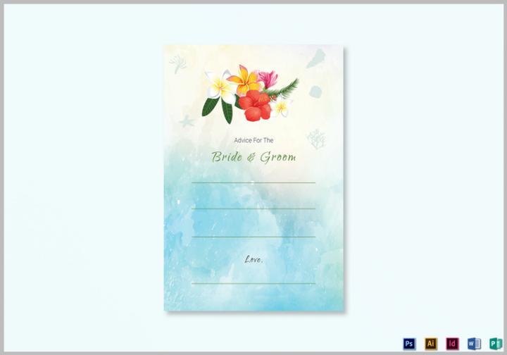beach-wedding-advice-card-template