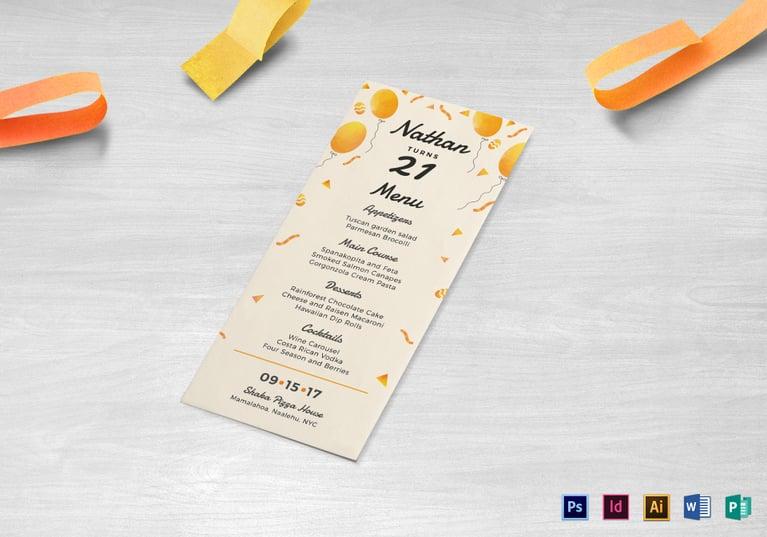 birthday-party-menu-template