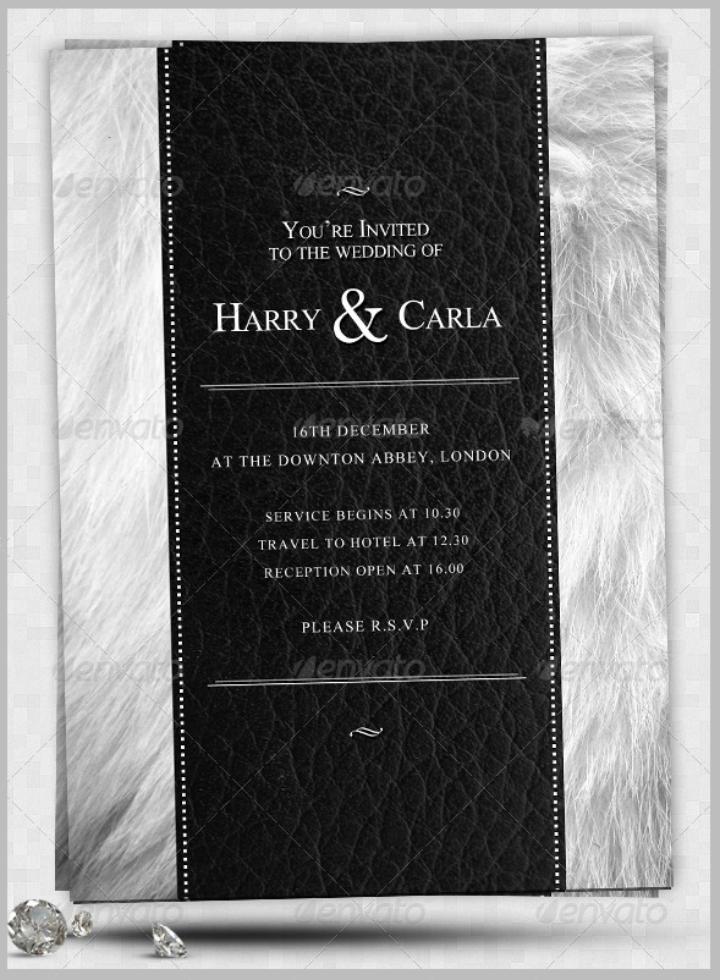 black wedding invite flyer template