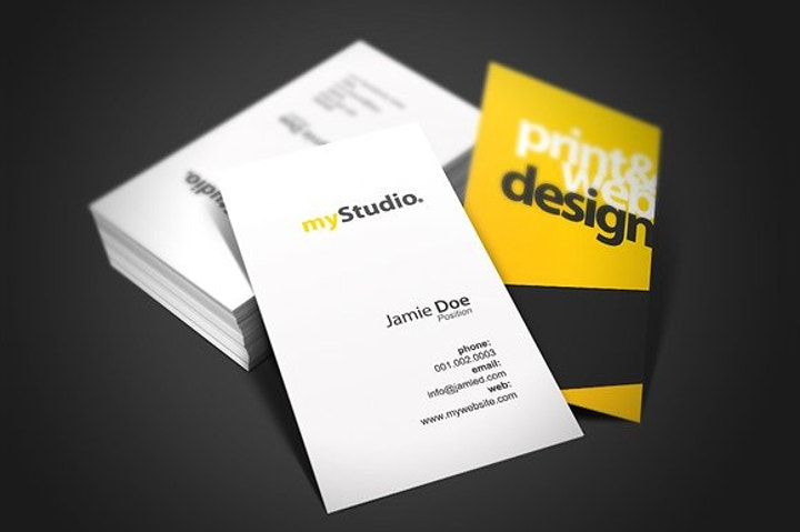 Black and Yellow Studio Business Card