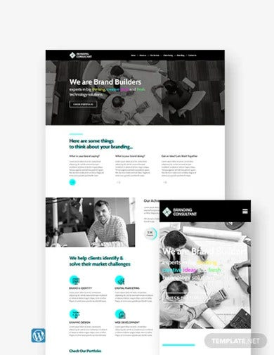 branding consultant wordpress theme template