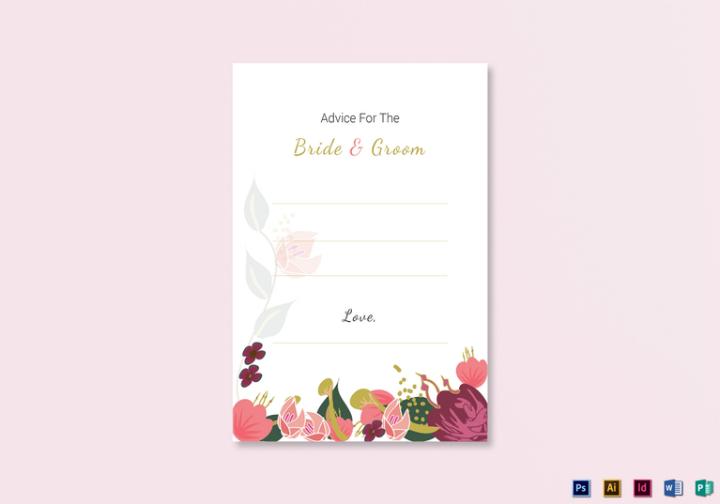 burgundy-floral-wedding-advice-card-design-templates