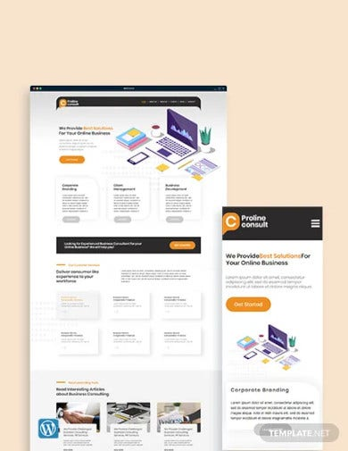 business consultant wordpress theme template