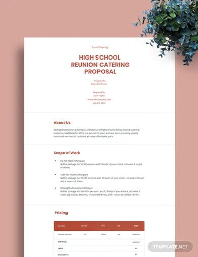 catering service proposal template