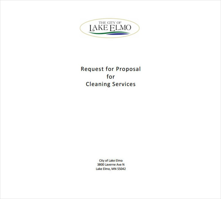 cleaning service request proposal