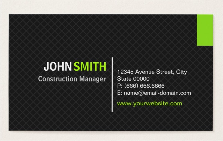 construction-manager-modern-twill-grid-business-card