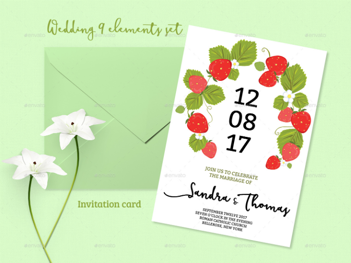 cool-green-summer-wedding-invitation-set