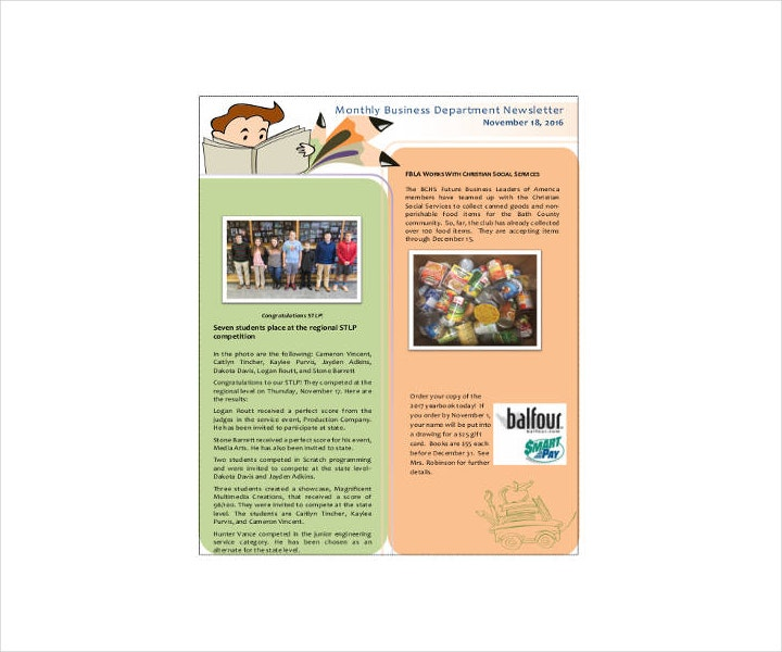 Corporate Employee Newsletter Example