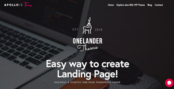 creative-landing-page-wordpress-theme