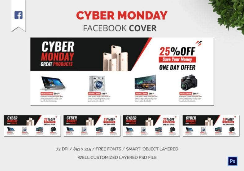 Cyber Monday Facebook Cover