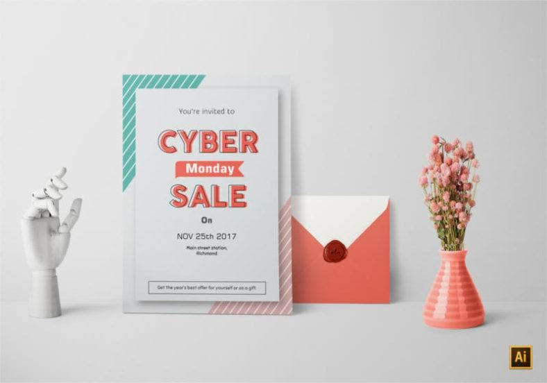 Cyber Monday Invitation Design