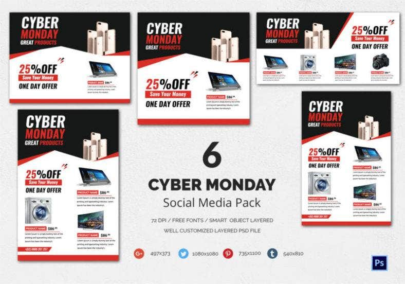 Cyber Monday Social Media Pack