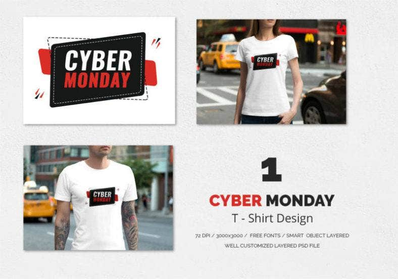 Cyber Monday T Shirt Design