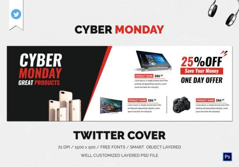 Cyber Monday Twitter Cover