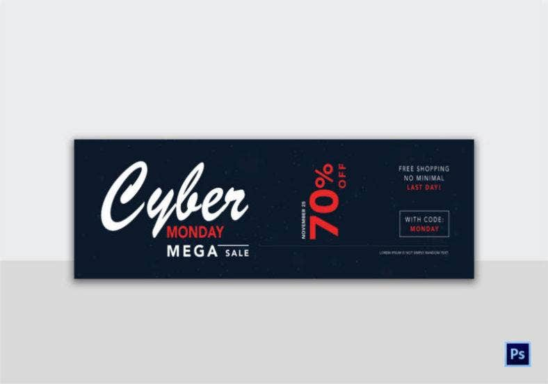 Cyber Monday Web Banner Billboard