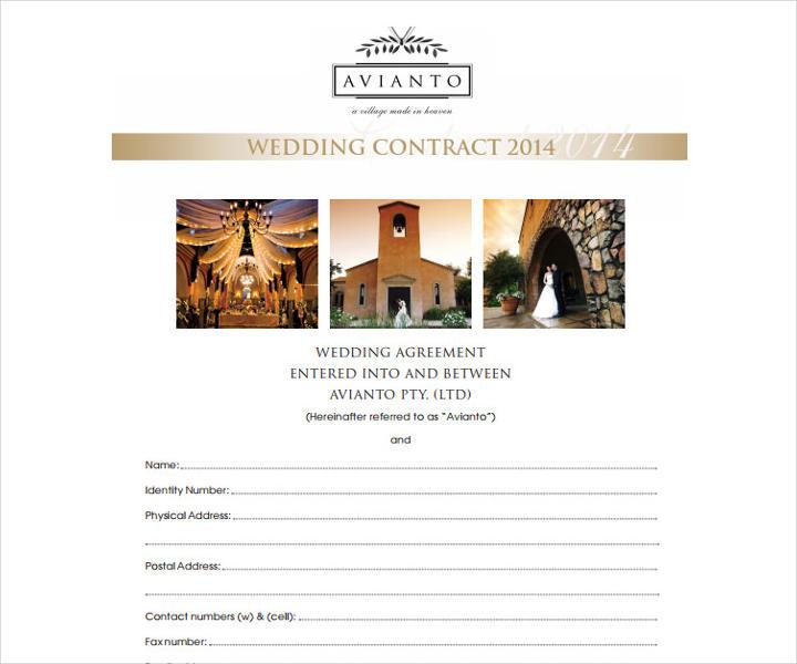 Editable Christian Wedding Contract