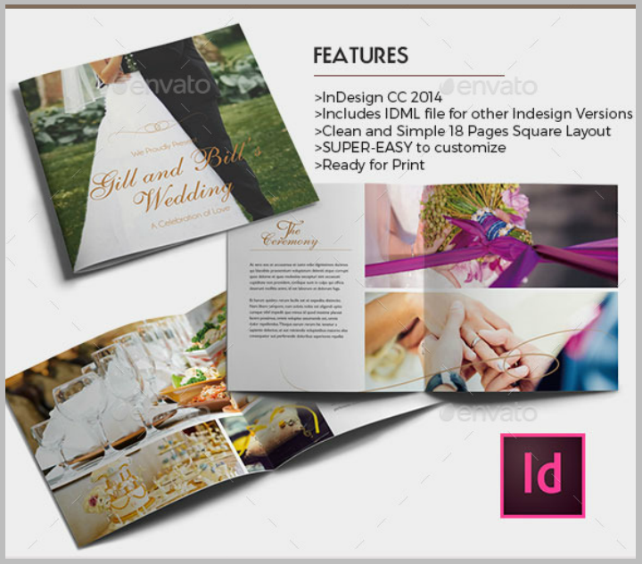 elegant wedding brochure template