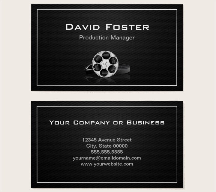 film production manager business card