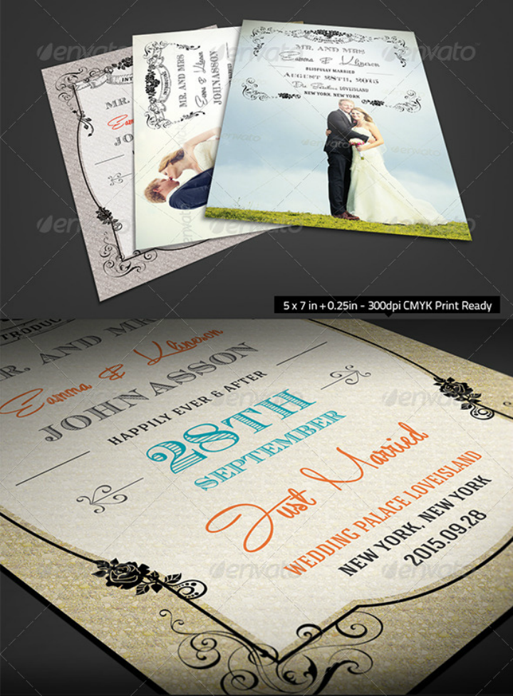 flower-royal-wedding-announcement-card-psd-template