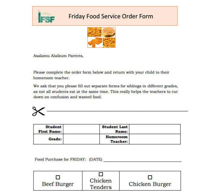 Food Service Contract Templates For A Restaurant Cafe And