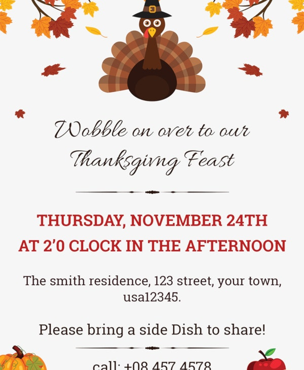 free thanks giving invitation
