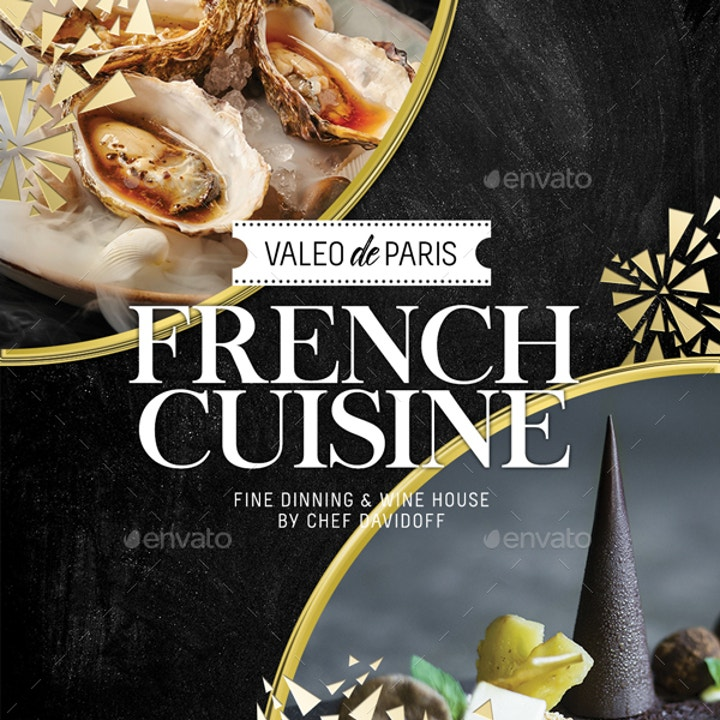 French Restaurant Menu Template