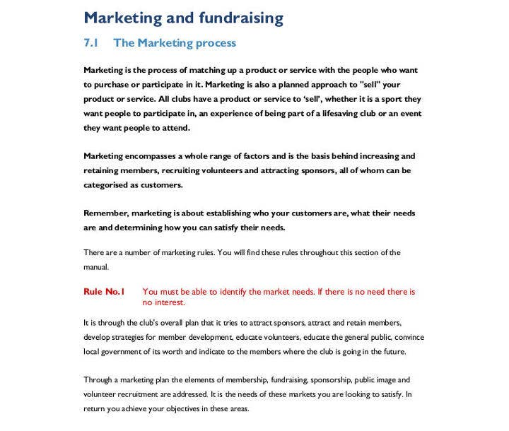 fundraising event marketing plan