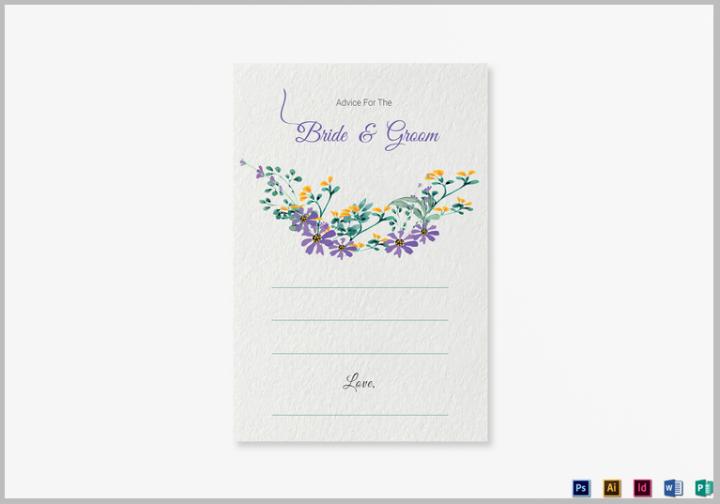 garden-wedding-advice-card-template