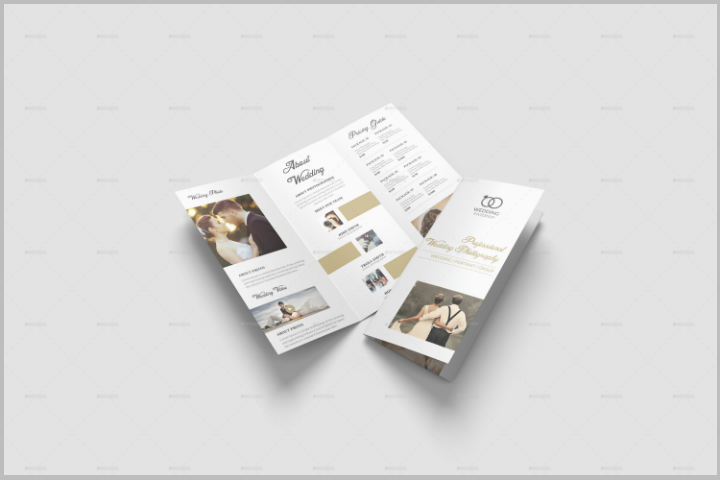 gold foil wedding brochure template