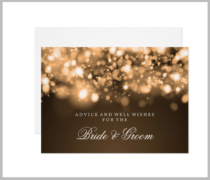 gold-sparkling-wedding-advice-card