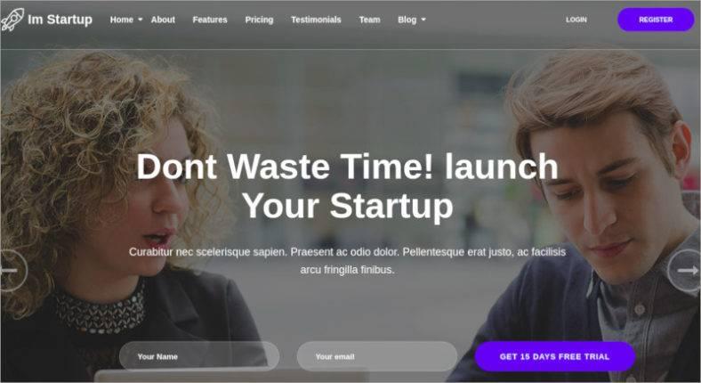 imstartup startup landing page wordpress theme 788x430