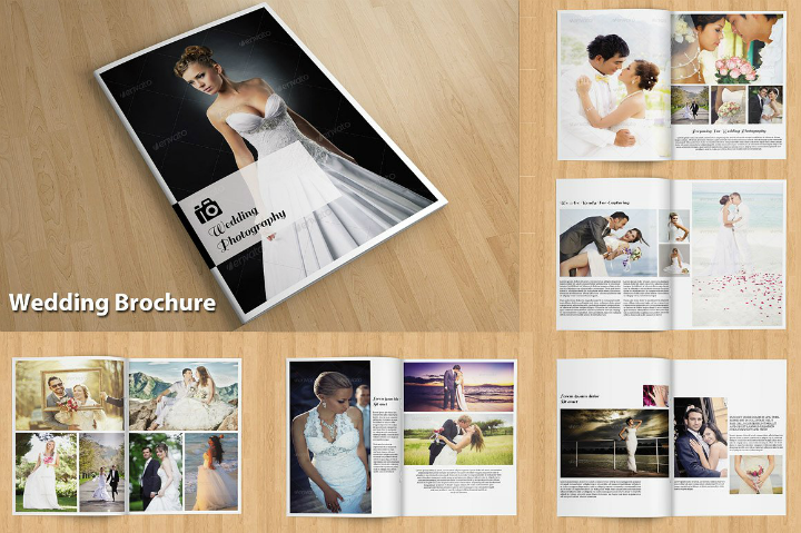 indesign wedding brochure template