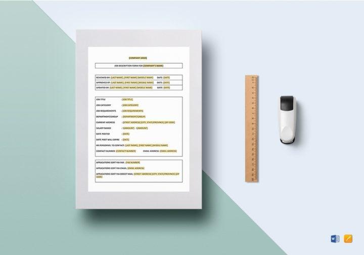 11 job description forms free pdf doc format download free