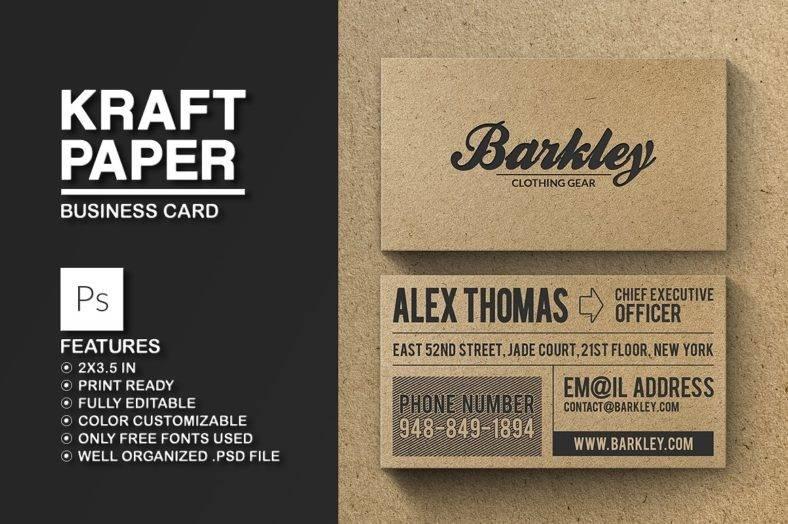 kraft-paper-business-card