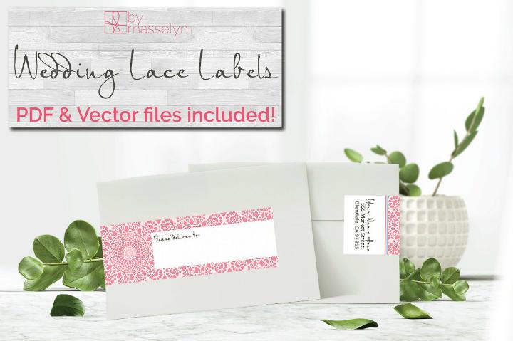 lace wrap wedding address label