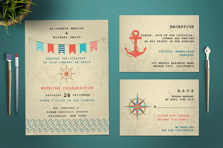 maritime-wedding-invitation-template-set