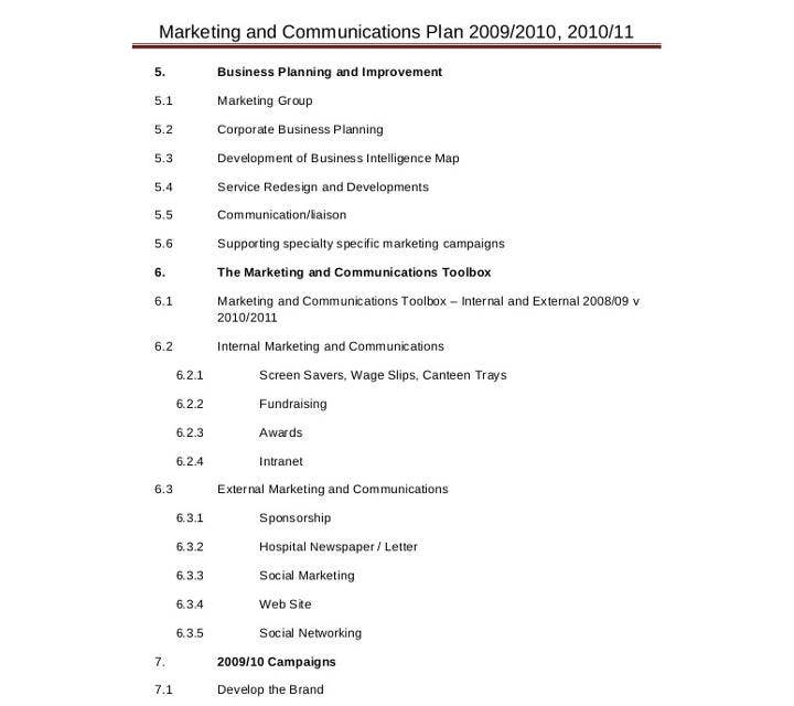 Marketing and Communications Strategy Template