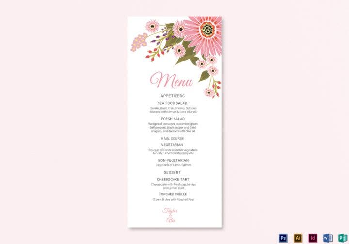 14  elegant fine dining restaurant menu designs