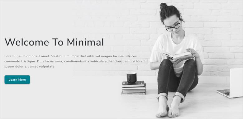 minimal multipurpose landing page