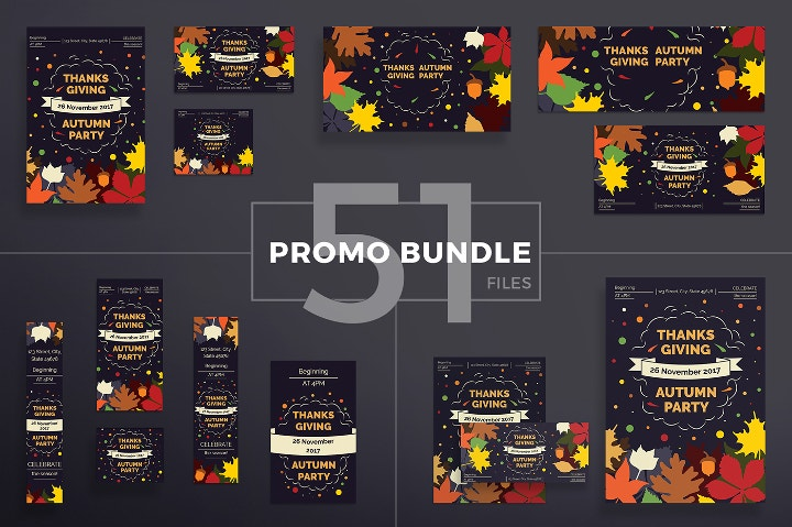 modern thanksgiving bundle templates