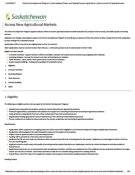 new agricultural markets1