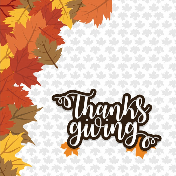 orange autumn leaves thanksgiving template