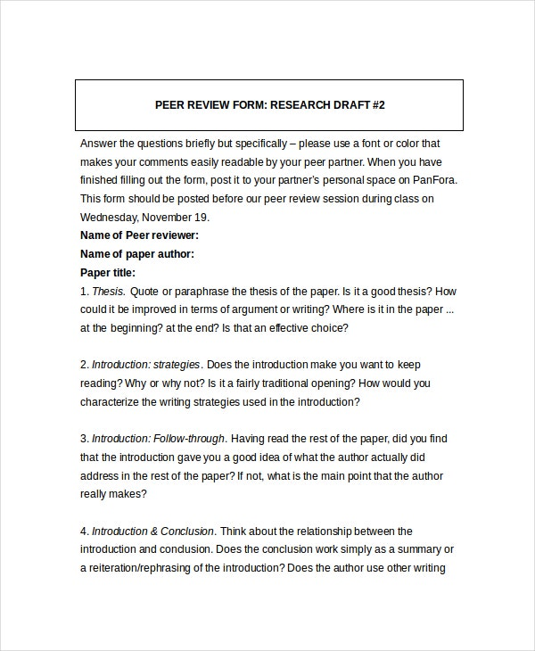 Peer review format erkalnathandedecker 9 peer improvement forms templates pdf doc free premium peer review format maxwellsz