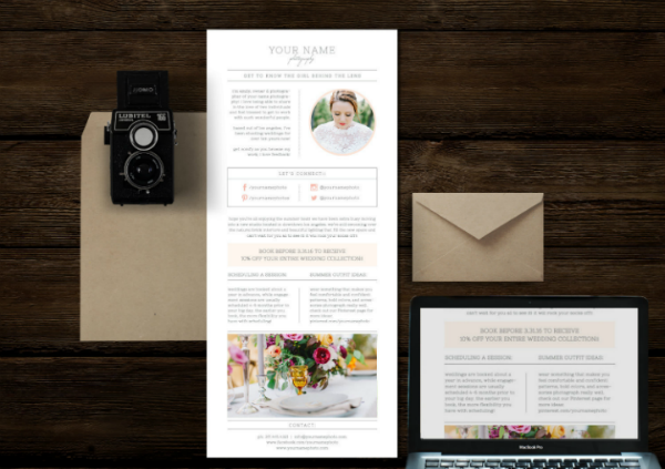 photographers wedding email template featured img