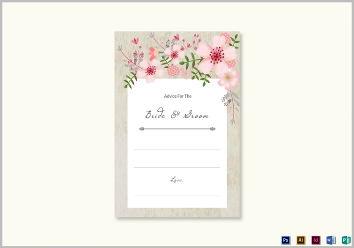 pink-floral-wedding-advice-card-design-template