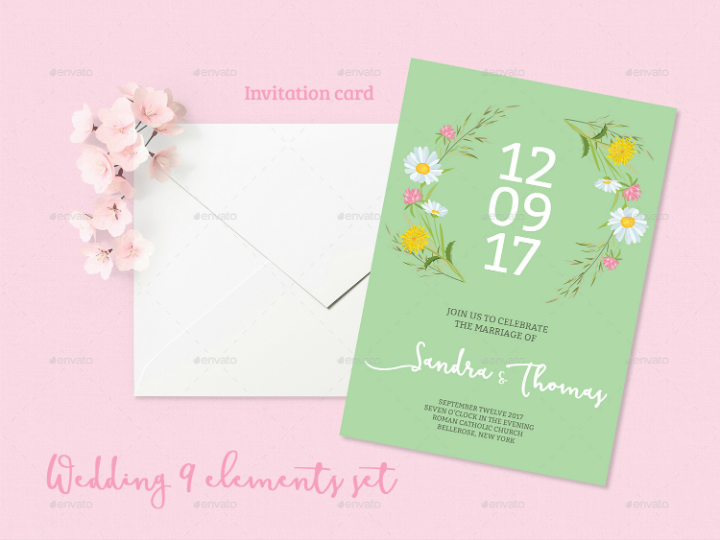 pink-summer-wedding-invitation-set